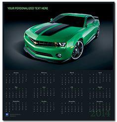 Camaro Synergy Green 2014 Wall Calendar-Chevy Mall
