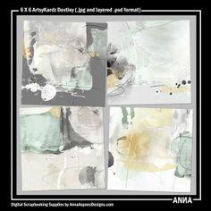 Oscraps :: Shop by Designer :: Anna Aspnes Designs :: 6 X 6 ArtsyKardz Destiny  #art #digitalart #scrapbook #photography