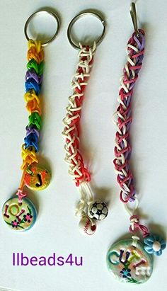 Rainbow Loom Key Chains - if we have a few looms, this would be a fun idea, too.  I hear (and see) that boys actually like these, too.