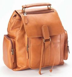 mochila de couro caramelo