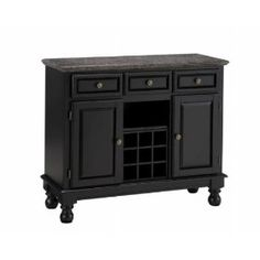 Home Styles - Salmon Granite Top on Black Server - 5300-0045.  List Price: $1116.00  Sale Price: $422.80  Savings: 62%