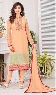 Apricot Color Georgette Ladies Casual Wear Suits | FH426167977 #casual, #salwar, #kameez, #online, #trendy, #shopping, #latest, #collections, #summer,#shalwar, #hot, #season, #suits, #cheap, #indian, #womens, #dress, #design, #fashion, #boutique, #heenastyle, #clothing, #cotton, #printed, #materials, @heenastyle