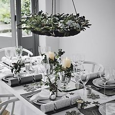 Fir & Snowberry Hanging Wreath | The White Company