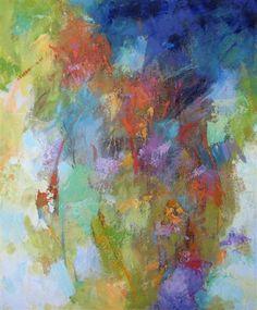 Original art for sale at UGallery.com | Blue Poem by Debora Stewart | $875 | acrylic painting | 24 h x 20 w