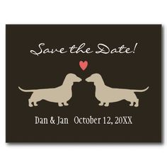 Dachshunds Wedding Save the Date Postcards, Want it cheaper? Use this link for coupons: https://www.zazzle.com/coupons?rf=238077998797672559