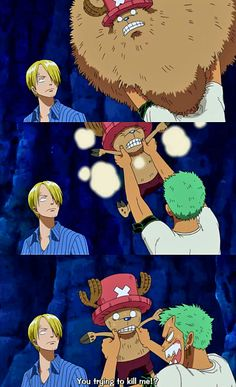 "Sanji's just like ""yup. Just another day with the straw hat crew"""