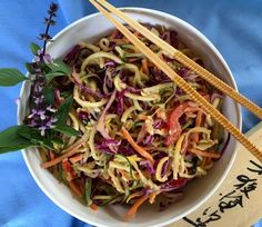Zoodles with Peanut Dressing