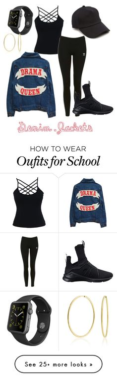 """""""Denim too Cool for School"""" by supersyd8 on Polyvore featuring rag & bone, Topshop, Puma, Apple and Bling Jewelry"""