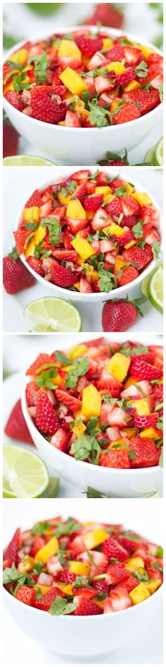 Strawberry Mango Salsa - A fruity and delicious salsa for all the salsa lovers out there!