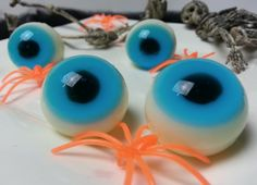 Creepy and cute, these gummy eyeballs would be perfect for any halloween party. They taste like custard and jelly! :) Ingredients: 1 packet of jelly (whichev...