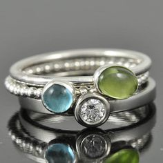 Peridot ring, august, birthstone ring, oval, gemstone ring, birthstone ring, sterling silver ring, bezel set, stackable ring on Etsy, $39.22 AUD