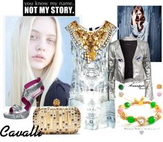 """""""Just Cavalli Dress"""" by styled-by-daniela-douk on Polyvore"""