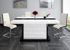 nowoczesny, czarno-biały stół na wysoki połysk - PIANOSA, Hubertus