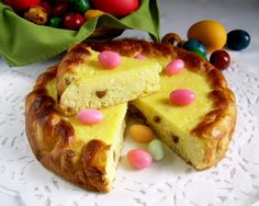 Traditional cheesecake for Easter