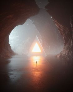 Triangular portal of light