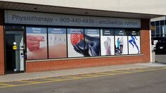 Great new window graphics at Neurochangers​ - digital print perforated vinyl and digital print opaque vinyl with cut white lettering. Congrats on the new location! #windowgraphics #storefrontsignage www.SpeedproDurham.ca