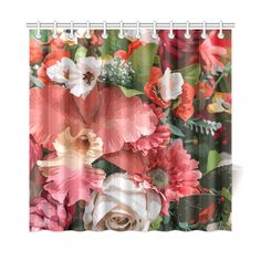 Beautiful Abstract Floral Pattern Shower Curtain 72