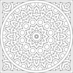 A Pair Of Mandalas To Color Coloring Pages MandalaAdult