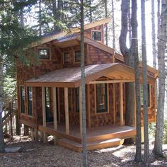 Tiny house in the trees #TinyCabins