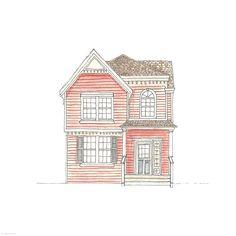 65. Odd-Window-Out House | Rebecca Horne, illustration