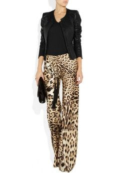 Roberto Cavalli | Leopard-print silk-satin pants | NET-A-PORTER.COM