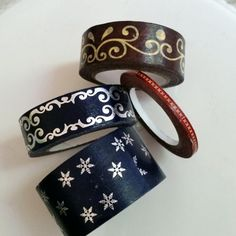 Winter holiday washi tape samples - 18 inches of wide and skinny washi in snowflakes, gingerbread, red stitching by WashiYouDoing on Etsy
