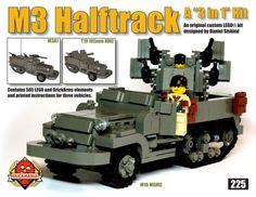 I have always loved half-tracks, and this LEGO model of M3 by Daniel Siskind(Brickmania) is great.