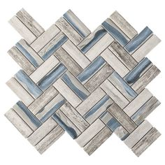 Marble Mosaic, Glass Mosaic Tiles, Mosaic Wall, Grey Wall Tiles, Wall And Floor Tiles, Blue Backsplash, Kitchen Backsplash, Backsplash Ideas, Tile Ideas