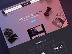 Avalon Creative Studio Homepage Freebie