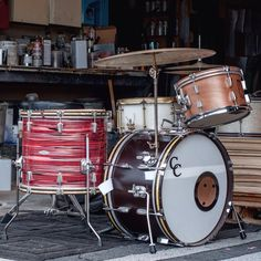 "holiday prac kit"" set up in honor of #islands stopping by.  #candcdrums"