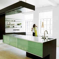 Cool danish kitchen - owners of vipp I think...