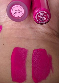"""Lime Crime """"Pink Velvet"""" dupe = Wet N Wild """"Back to Fuschia"""" Can Makeup, Free Makeup, Pretty Makeup, Beauty Dupes, Beauty Makeup, Beauty Hacks, Expensive Makeup, Make Up Dupes, Drugstore Makeup"""