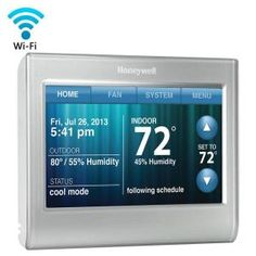 Adjust your thermostat from anywhere. Create your own unique look to match your home's decor. Enjoy unsurpassed comfort control. Receive reminders to change a filter or be alerted of extreme home temps. Beauty and brains collide with Honeywell's Smart Wi-Fi Thermostat.