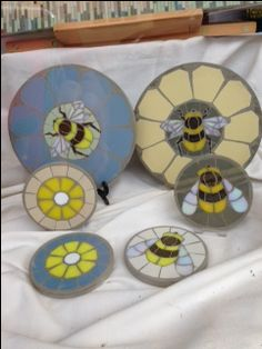 Mosaic bumble bee's found in a little shop in Diss, Norfolk