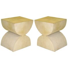 2 Parchment Benches/Stools After Constantin Brancusi | From a unique collection of antique and modern benches at http://www.1stdibs.com/furniture/seating/benches/
