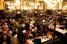 The Case for a Touristy Restaurant- Chartier (I ate here with the NEH group and liked it. Paris Restaurants, French Countryside, Rue, First Love, Dolores Park, Adventure, City, Museums, Travel