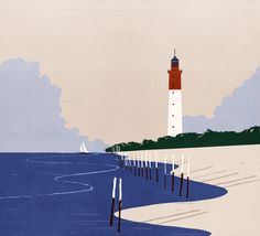 Cap Ferret, Illustration by SHOUT ::: www.dutchuncle.co.uk/shout-images