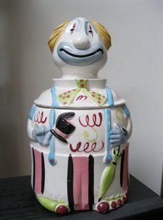 Vintage 1950's Clown Cookie Jar