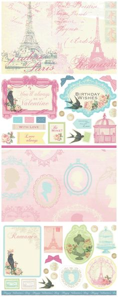 Add some French chic to your cards or scrapbook with these free printable Parisian papers from Papercraft Inspirations issue 122.