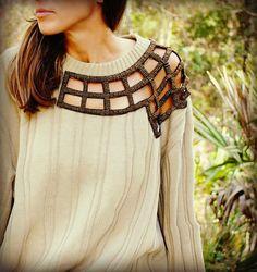 15 #DIY Fashion Projects: Peek-A-Boo Sweater