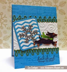Stamp S'more | Dachshund through the snow | Holiday Hounds Stamp Set by Newton's Nook Designs