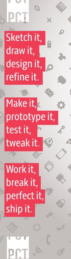 "idea, Re-design Project: after discussing ""design,"" have the students choose an object that they feel needs to be ""re-designed,"" and have them tackle aesthetics and function (even have fake customer peer critique role playing) until they submit a final draft drawing of the newly improved version of the product they re-designed.. If you like UX, design, or design thinking, check out theuxblog.com"
