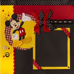 Cute Mickey Mouse Disney scrapbook page