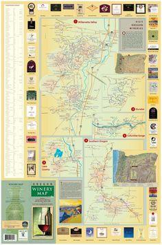 Oregon Winery Map #oregon #winery #winetrail