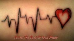 ekg tattoo \ ekg interpretation made easy _ ekg _ ekg tattoo _ ekg interpretation _ ekg interpretation cheat sheets _ ekg lead placement _ ekg rhythms _ ekg technician Ekg Tattoo, Lifeline Tattoos, Dad Tattoos, Family Tattoos, Sister Tattoos, Wrist Tattoos, Couple Tattoos, Body Art Tattoos, Tattoos For Guys