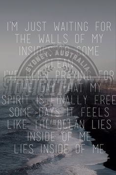 Day 15 - a song that describes you: The Ocean by Tonight Alive. This song perfectly summarizes the chaos and confusion you (I) can feel. [2/15/14]