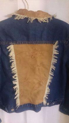 LIGHTHOUSE APPAREL Faux Suede Frayed #JeanJackets Women SZ S #Boho #Indie #Hippie #Western #Fashion