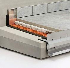 Balkonaufbau A.8: Lose Verlegung auf Kies-/Splittbett   Schlüter-Systems