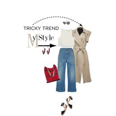 Tricky Trend: Sleeveless Coat-Linen & Denim by joanna46-1 on Polyvore featuring Apiece Apart, Theory, Gucci, Vince Camuto, Anni Jürgenson, Yves Saint Laurent, TrickyTrend, sleevelesscoat and linenanddenim