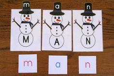 Montessori-Inspired Snowman Letter Activities